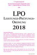 Leistungs-Prüfungs-Ordnung (LPO) 2018 - 2. Ergänzungssatz (Download)