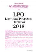 Leistungs-Prüfungs-Ordnung (LPO) 2018 - 3. Ergänzungssatz (Download)