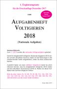 Aufgabenheft Voltigieren (Nationale Aufgaben) 2018 - 1. Ergänzung gültig ab 1.1.2019 (Download)
