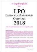 Leistungs-Prüfungs-Ordnung (LPO) 2018 - 4. Ergänzungssatz Januar 2020 (Download)